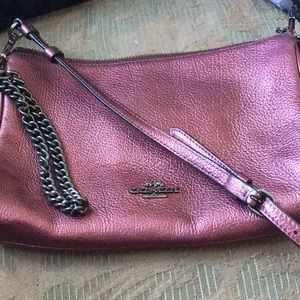 COACH  shimmering leather purse.